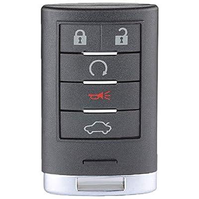 Keyecu Smart Proximity Remote Key 5 Button for Cadillac SRX 2010-2015 FCC ID:NBG009768T: Automotive