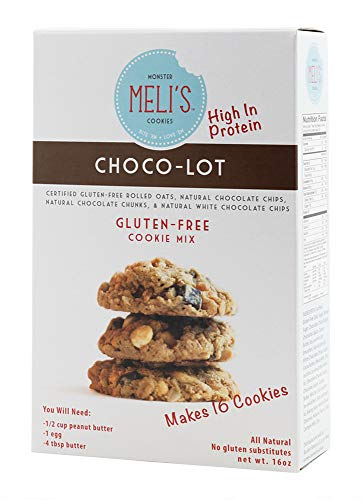 Meli's Monster Cookies - CHOCO-LOT; Naturally Gluten-free; High Protein; High Fiber; Dry Cookie Mix; Certified Gluten-free Healthy Rolled Oats