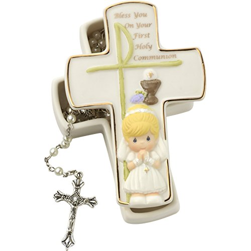 Precious Moments First Holy Communion Covered Box Girl (Covered Precious Moments Box)