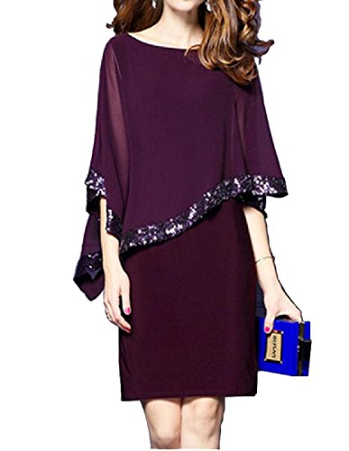 Sequin Purple Women Mesh Solid Club Dresses Coolred Slim Party Stitching Hollow Sqwv5C