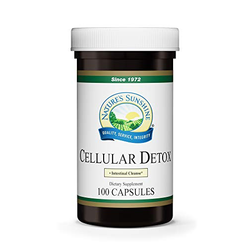 Nature's Sunshine Cellular Detox, 100 Capsules, Kosher, Natural Digestive System Supplement That Helps Facilitate Bowel Movement with Herbs