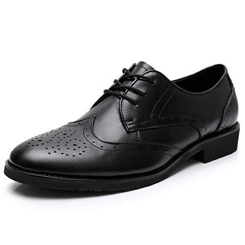 Noir 43 EU Xinke Oxford Classique Homme Bout Pointu Chaussures habillées for Hommes en Cuir Verni Noir Chaussures de Mariage Affaires Bout Rond Bas Haut Sculpture Vamp