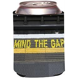 Rikki Knight Mind the Gap on London Subway Underground Design Drinks Cooler Neoprene Beverage Insulators Huggers