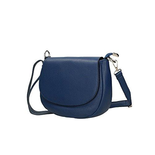 cuir sac Cm véritable d'épaule 23x18x7 italie Aren en Bleu femme fabriqué pour en q1Swn4R