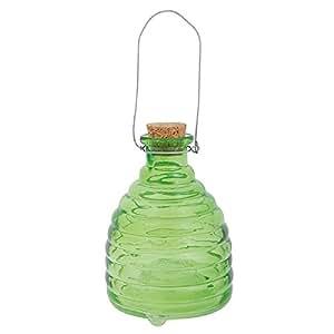 Trampa avispas Insectos Trampa Cristal acanalado verde 13cm