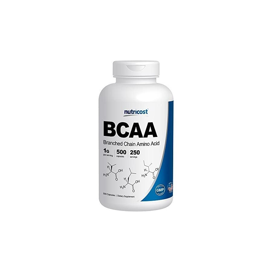 Nutricost BCAA Capsules 2:1:1 500mg, 500 Caps
