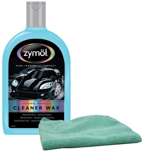 Zymol Natural Liquid Cleaner Wax (16 oz) Bundled with Microfiber Cloth Combo (2 Items)