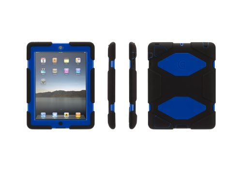 Griffin Technology Survivor Case for Apple® iPad® 2nd-, 3rd- and 4th-Generation Black/Blue GB35115
