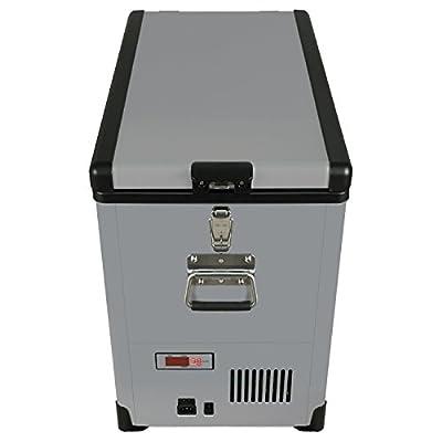 Whynter FM-452SG Elite 45 quart Slim Fit Portable Freezer/Refrigerator with 12V Option, Gray