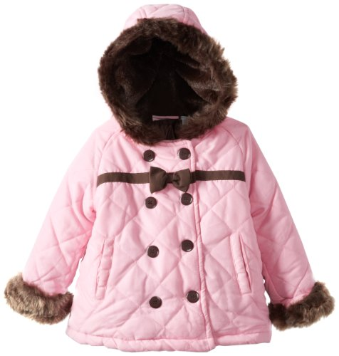 Young Hearts Little Girls'  1 Piece Pocket Hood Jacket, Pink, 3T 1 Piece Hood