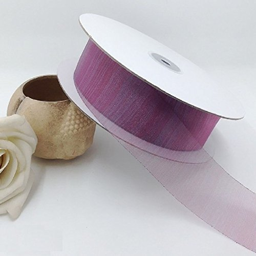4CmX50Meter Organza Ribbon Sewing Tape Accessory Chiffon Fabric Wrap Scrapbooking Roll Valentines Day Gift Packing Patchwork