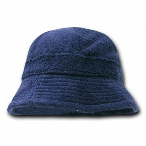 Decky Orgianl Terry Bucket Hats - One Size - Navy Blue - - Boonie Hat Terry Hat