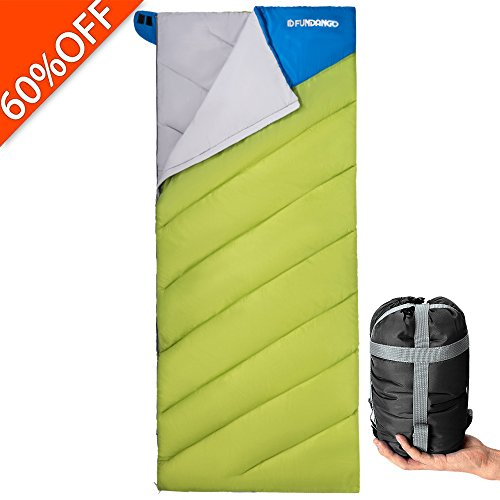 Lightweight Sleeping Bag For Backpacking, Camping, Hiking, Travel-Oversized Sleeping Bag Warm Weather Ultralight Compact Bag with Compression Sack For Kids Men Women.(SINGLE) By (Hot Stuff Hand Warmers)