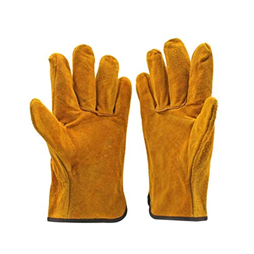 Welding Gloves| fireproof Anti-heat,spark safety gloves | Leather Forge Welding Gloves| 1pair(brown)