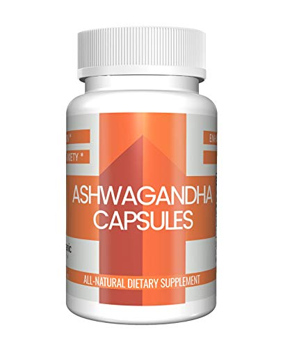 Ashwagandha Capsules (100 Capsules, 250 mg) by Pure Organic Ingredients, Natural Dietary Supplement for Anxiety, Stress Relief, Depression, Fertility, Brain Health, Reduce Inflammation