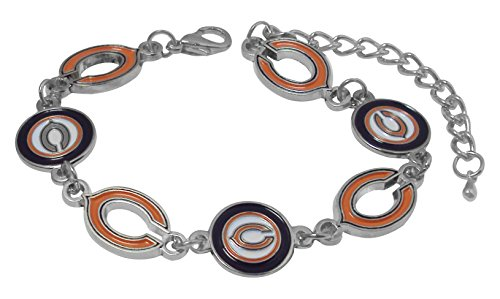 - NFL Chicago Bears Logo Bracelet