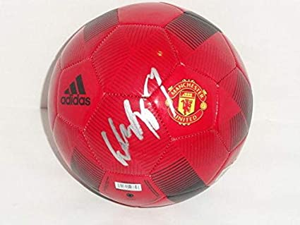 67cf73b1b64 Wayne Rooney Signed Adidas Manchester United Soccer Ball World Cup Proof -  Autographed Soccer Balls