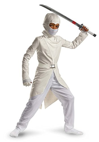 Storm Shadow Deluxe - Size: Child M(7-8) (White Ninja Hood compare prices)