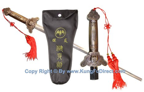 Dragon Head Kung Fu Collapsible Sword - for Wushu, Tai Chi, Shaolin, Martial Arts Weapon. Tds202