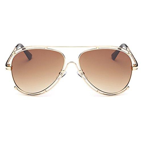 A-Royal Fashion Personality Metal Frame Wayfarer - Ski Sunglasses 80 S