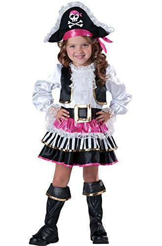 Pirate Baby Girl Costume (InCharacter Baby Girl's Pirate Girl Costume, Pink/White,)