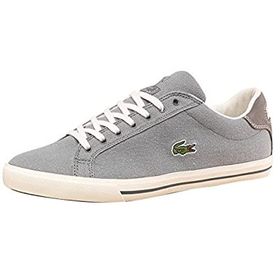 60e9e3233108f Lacoste Mens Graduate Canvas Vulc Trainers Grey White  Amazon.co.uk  Shoes    Bags