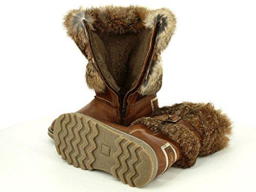 Chérie 4753 cuoio Mädchen Warmfutter Stiefel in Mittel Braun