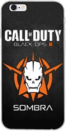 Noir Orange Noir Ops 3 iPhone 7 Coque Call of Duty 8 Coque COD ...