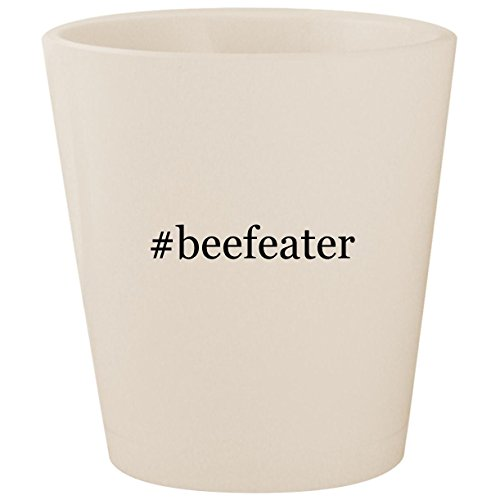#beefeater - White Hashtag Ceramic 1.5oz Shot Glass