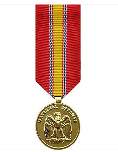 Vanguard MINIATURE MEDAL- 24K GOLD PLATED NATIONAL DEFENSE SERVICE
