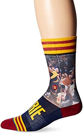 Stance Men's Kyrie Irving Crew Sock, Yellow, M at Amazon