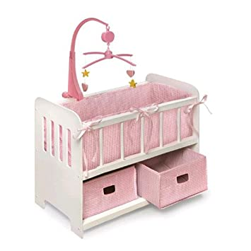 Amazon.: Badger Basket BABY DOLL BED w/ Storage Baskets MOBILE
