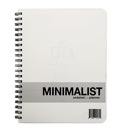 MINIMALIST Undated Planner whistles Functional product image
