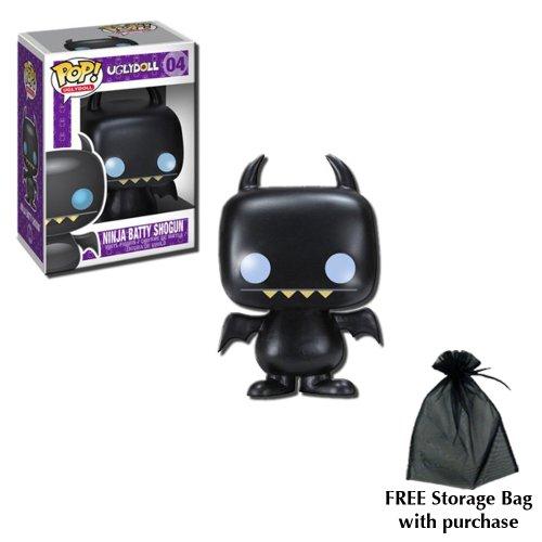 Uglydoll Pop - Pop! UglyDoll Ninja Batty Shogun Vinyl Figure with free storage bag