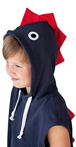 Kids Dino Hooded Cover Up Towel, 100% Cotton Plush and Absorbent Luxury Dinosaur Towel - Perfect Gift