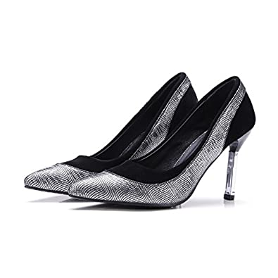 baa92fcf49f Qin X Women s Pointy Toe Stiletto Shallow Mouth Prom High Heels Wedding Court  Shoes Pumps