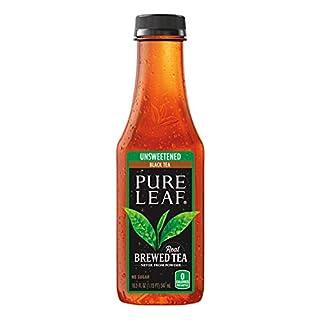 Pure Leaf Iced Tea, Unsweetened Black Tea, 18.5oz Bottles (12 Pack)