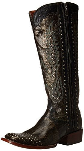 Dan Post Womens Simone Westernboot Dark Taupe