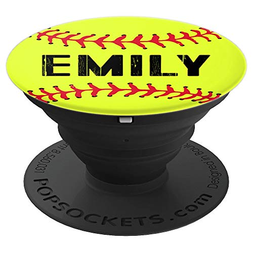 Emilys Coach - Emily Personalized Name Gift Softball Player Coach Team - PopSockets Grip and Stand for Phones and Tablets