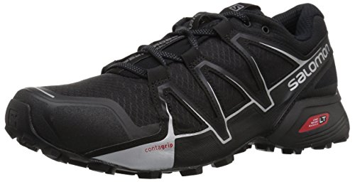 Salomon Men's Speedcross Vario 2 Trail Running Shoe, Black, 10 M US