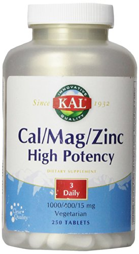 KAL Cal/Mag/Zinc Tablets, 1000/400/15 mg, 250 Count
