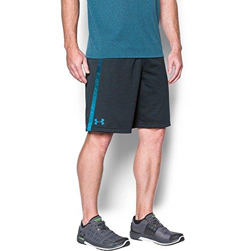 Under Armour Men's Tech Mesh Shorts, Stealth Gray/Blue Shift, Medium