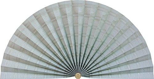 Neat Pleats Decorative Fan, Hearth Screen, or Overdoor Wall Hanging - L482 - Seafoam Sea Light Moss Green Moire by Neat Pleats