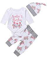 Newborn Baby Girls 3pcs Outfit Set Auntie's...