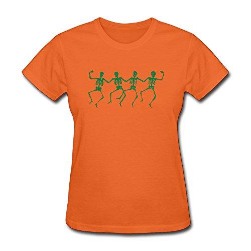 KEMING Women's Dancing Skull T-shirt XXL -