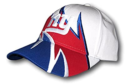 New York Giants Tri-Color Adjustable Hat Lid Cap by Fan Apparel