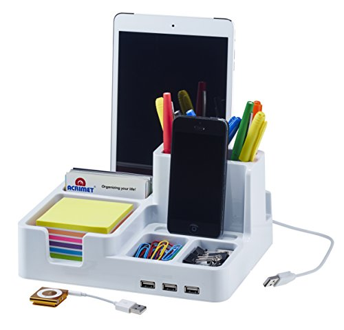 smart desk organizer white color