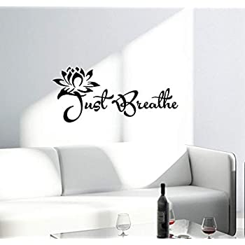 Wall Vinyl Decal Quotes Words Lotus Yoga Lettering Inspirational Words Buddha 2426ig (22.5 in x 10 in)