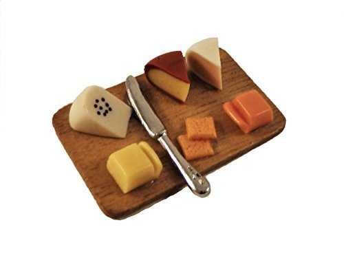 Melody Jane Dollhouse Cheese Board Miniature Dinner Dining Room Accessory 1:12