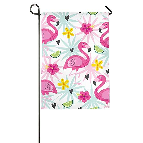 NOAID Pink Flamingo Home Garden Indoor/Outdoor Flags, Durable FlagsColorful Design for All Seasons and Holidays -